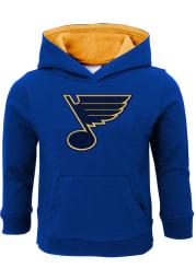 St Louis Blues Toddler Blue Prime Long Sleeve Hooded Sweatshirt