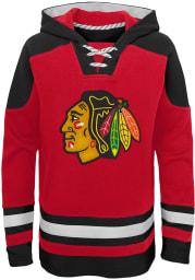 Chicago Blackhawks Boys Red Ageless Must have Long Sleeve Hooded Sweatshirt