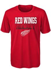 Detroit Red Wings Boys Red Elite Short Sleeve T-Shirt