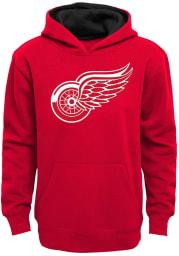 Detroit Red Wings Boys Red Prime Long Sleeve Hooded Sweatshirt