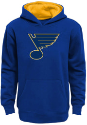 St Louis Blues Boys Blue Prime Long Sleeve Hooded Sweatshirt