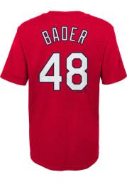 Harrison Bader St Louis Cardinals Boys Red N N Short Sleeve T-Shirt