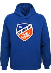 FC Cincinnati Youth Blue Primary Logo Long Sleeve Hoodie