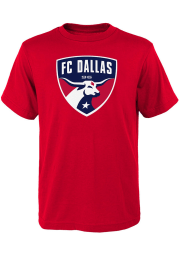 FC Dallas Youth Red Primary Logo Short Sleeve T-Shirt