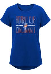 FC Cincinnati Girls Blue Glory Dolman Short Sleeve Tee