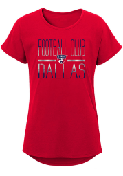 FC Dallas Girls Red Glory Dolman Short Sleeve Tee