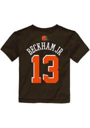 Odell Beckham Jr Cleveland Browns Infant Name and Number Short Sleeve T-Shirt Brown