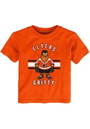 Gritty Outer Stuff Philadelphia Flyers Toddler Orange Gritty Life Short Sleeve T-Shirt