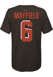 Baker Mayfield Cleveland Browns Youth Orange Player Pride 3.0 Player Tee