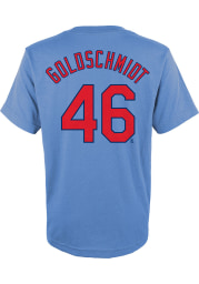 Paul Goldschmidt St Louis Cardinals Youth Light Blue Name and Number Player Tee
