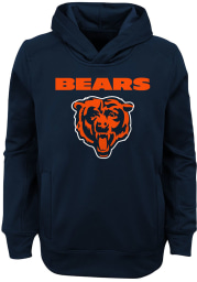 Chicago Bears Youth Navy Blue Goal Line Stand Long Sleeve Hoodie