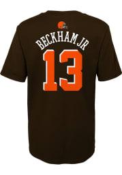Odell Beckham Jr Cleveland Browns Boys Brown Name and Number Short Sleeve T-Shirt