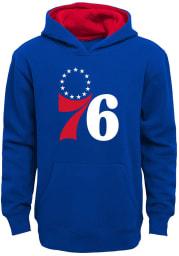 Philadelphia 76ers Youth Blue Prime Long Sleeve Hoodie