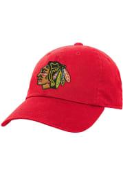 Chicago Blackhawks Black Slouch Youth Adjustable Hat