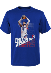 Ben Simmons Philadelphia 76ers Youth Blue Splash Screen Player Tee