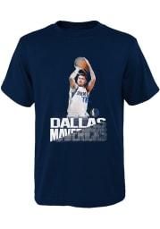 Luka Doncic Dallas Mavericks Youth Navy Blue Splash Screen Player Tee