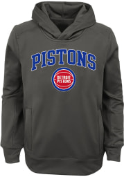Detroit Pistons Youth Charcoal Loose Ball Long Sleeve Hoodie