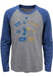 St Louis Blues Youth Blue Utility Long Sleeve Fashion T-Shirt