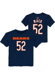 Khalil Mack Chicago Bears Toddler Navy Blue Mainliner Name and Number Short Sleeve Player T Shirt