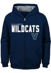 Villanova Wildcats Youth Navy Blue Stated Long Sleeve Full Zip Jacket