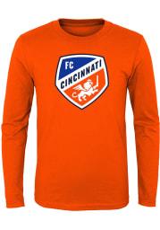 FC Cincinnati Youth Orange Primary Logo Long Sleeve T-Shirt
