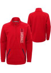 St Louis Cardinals Youth Red Stealth Mode Long Sleeve Quarter Zip Shirt