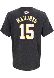 Patrick Mahomes Kansas City Chiefs Youth Charcoal Name and Number Player Tee
