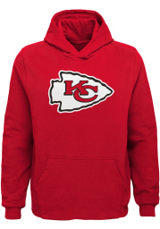 Kansas City Chiefs Youth Red Primary Logo Long Sleeve Hoodie