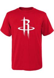 Houston Rockets Youth Red Primary Logo Short Sleeve T-Shirt