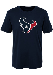 Houston Texans Youth Navy Blue Primary Logo Short Sleeve T-Shirt