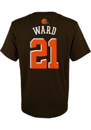 Denzel Ward Cleveland Browns Youth Brown Name and Number Player Tee