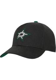 Dallas Stars Black Basic Structured Youth Adjustable Hat