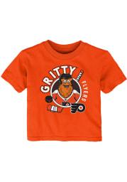 Gritty Philadelphia Flyers Infant Ready to Play Short Sleeve T-Shirt Orange