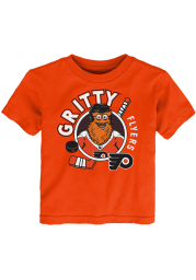 Gritty Outer Stuff Philadelphia Flyers Toddler Orange Gritty Ready to Play Short Sleeve T-Shirt