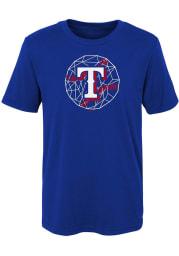 Texas Rangers Youth Blue Digi Ball Short Sleeve T-Shirt