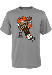 Odell Beckham Jr Cleveland Browns Youth Grey Pixel Player Tee