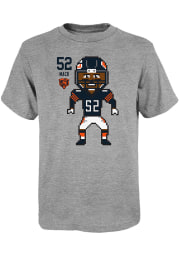 Khalil Mack Chicago Bears Youth Grey Pixel Player Tee