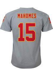 Patrick Mahomes Kansas City Chiefs Youth Grey V-Neck Player Tee