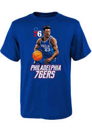 Jimmy Butler Philadelphia 76ers Youth Blue Heroes Wanted Player Tee