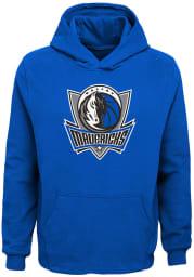 Dallas Mavericks Youth Blue Primary Logo Long Sleeve Hoodie