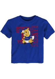 Captain Outer Stuff Texas Rangers Toddler Blue Baby Mascot Short Sleeve T-Shirt