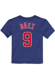 Javier Baez Chicago Cubs Toddler Blue Name and Number Short Sleeve Player T Shirt