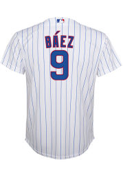 Javier Baez Nike Chicago Cubs Youth White Home Jersey