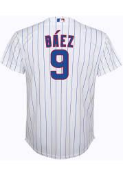 Javier Baez Chicago Cubs Boys White 2020 Home Baseball Jersey