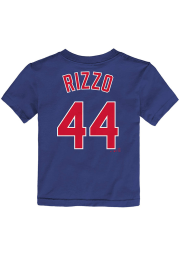 Anthony Rizzo Chicago Cubs Toddler Blue Name and Number Short Sleeve Player T Shirt