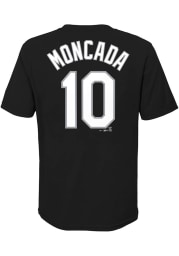 Yoan Moncada Chicago White Sox Youth Black Name Number Player Tee