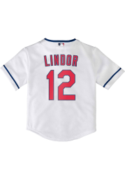 Francisco Lindor Cleveland Indians Toddler Replica Jersey - White