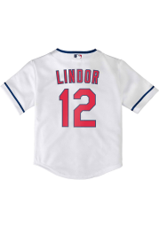 Francisco Lindor Cleveland Indians Baby White 2020 Home Jersey Baseball Jersey