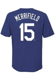 Whit Merrifield Kansas City Royals Boys Blue Name and Number Short Sleeve T-Shirt