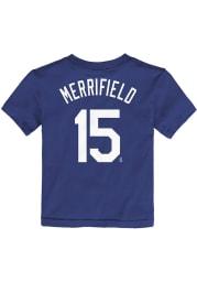 Whit Merrifield Kansas City Royals Toddler Blue Name and Number Short Sleeve Player T Shirt